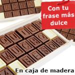 Chocomensaje¡Díselo con chocolate! Un mensaje de amor escrito con chocolate que llegará al corazón.